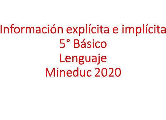 Información explícita e implícita