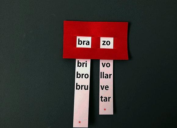 Ventana sílabas trabadas (R) minúscula NO TERMOLAMINADAS