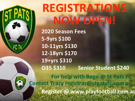 2020 REGO NOW OPEN!