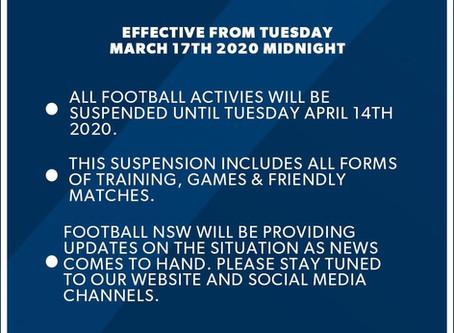 Season Suspended 18/03/20