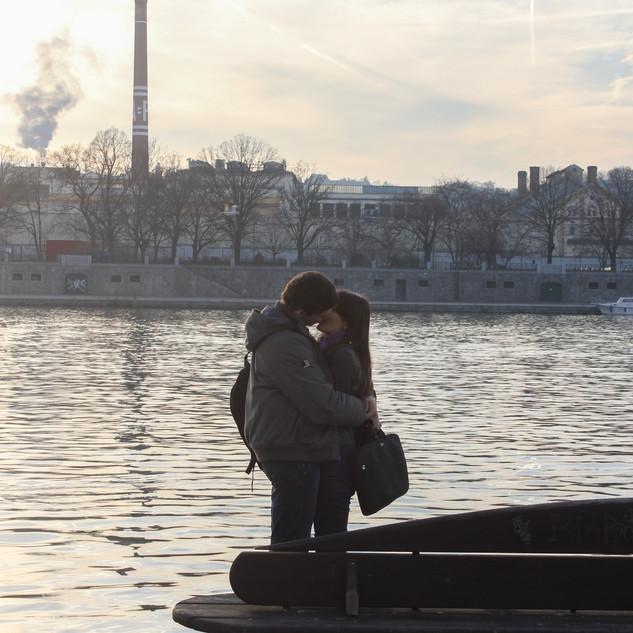 Kiss at Dusk by Miren Hayek
