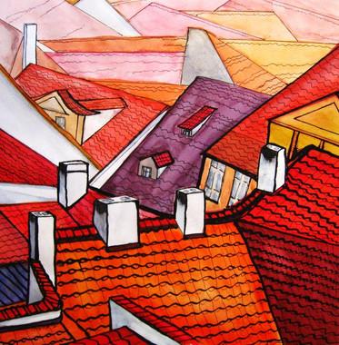 MALA STRANA ROOFS by Miren Hayek