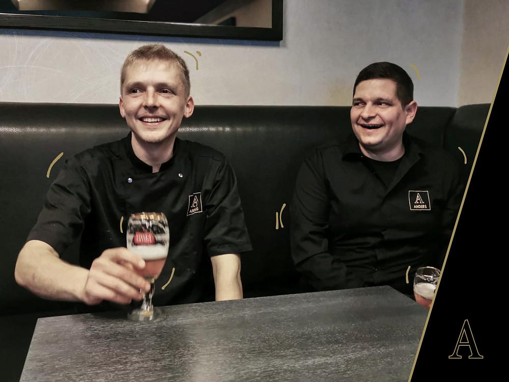 Jasper (links) en Davy (rechts), de oprichters van Anders