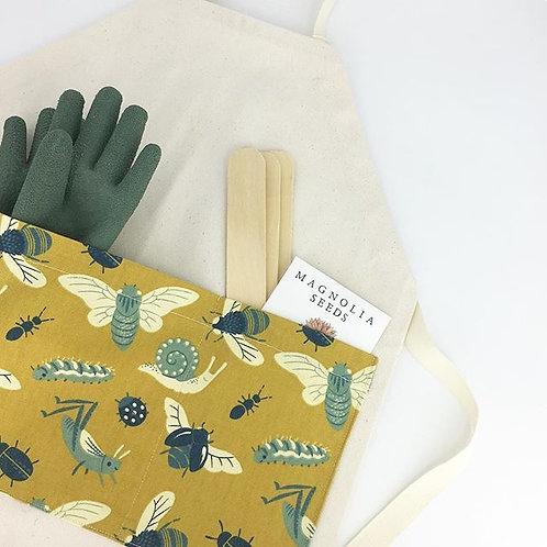 organic bugs gardening/chef apron