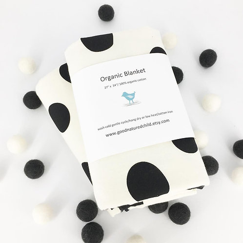 organic pop dots blanket