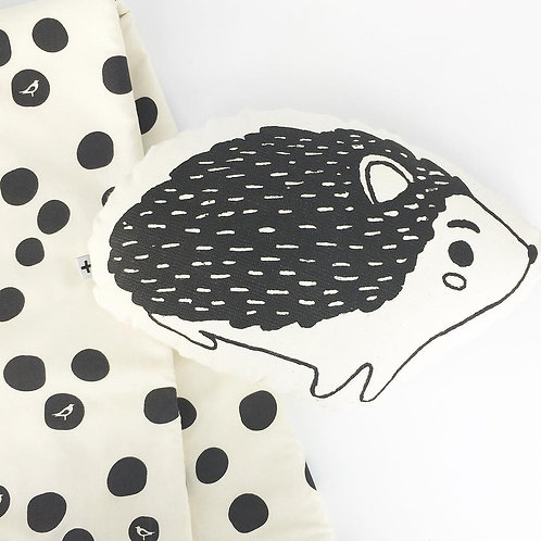 organic black bird dot blanket