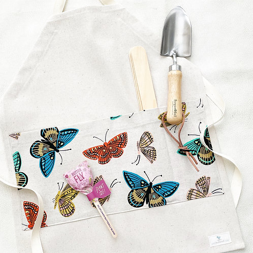 organic butterfly gardening/chef apron