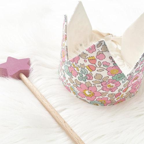 Liberty pink floral crown
