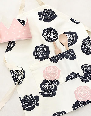 organic blush rose kitchen apron