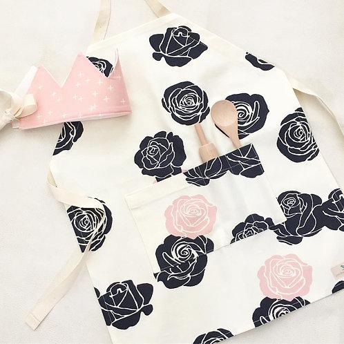 organic blush rose kitchen apron