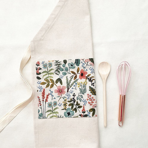 organic wildflower gardening/chef apron