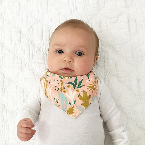 organic cactus bloom bib