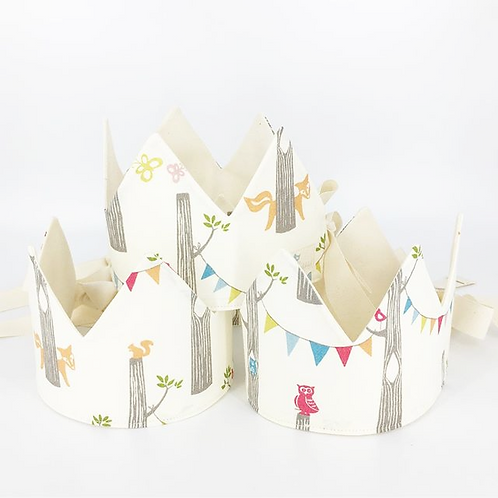 adjustable organic woodland party crown