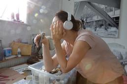 Liane in the studio