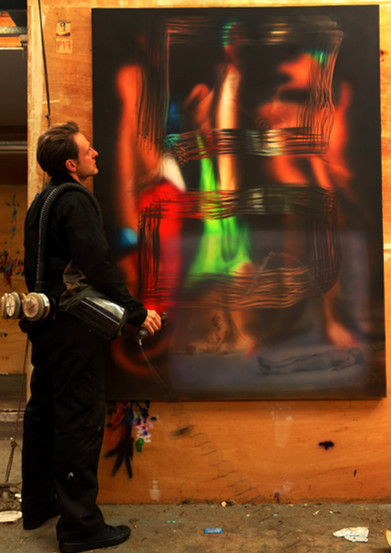 Performance Documentation Chris Burden Match Piece, Oil on canvas 183 x 183 cm