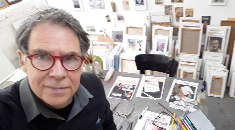 Hugh in the studio