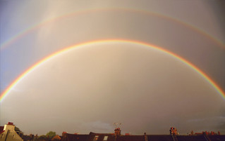 Rainbow over the rooftops during COVID19 lockdown in London