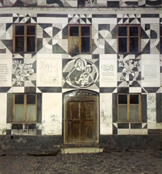 Mural in the old town of Gunzburg