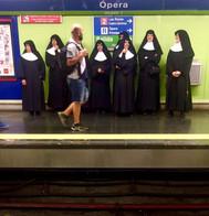 Nuns in Paris Opera Station