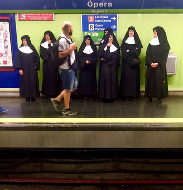 Nuns in Paris Opera Station