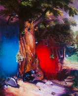 Neon Documentation Nauman No No, Oil on canvas, 150 x 200 cm