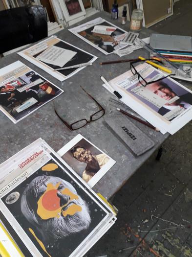 Hugh's studio desk