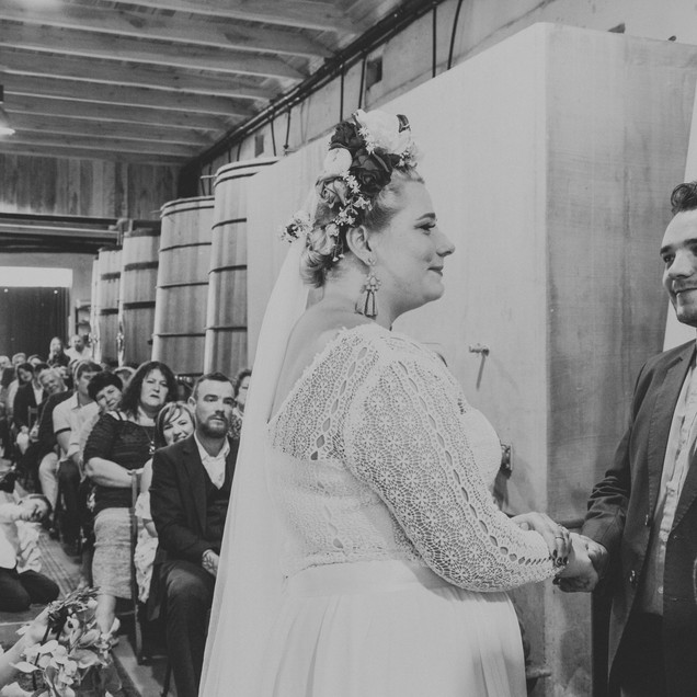inside cellar ceremony