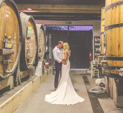couple shoot inside cellar