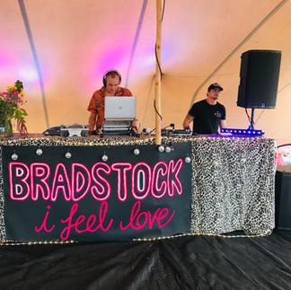 dancefloor and dj set up