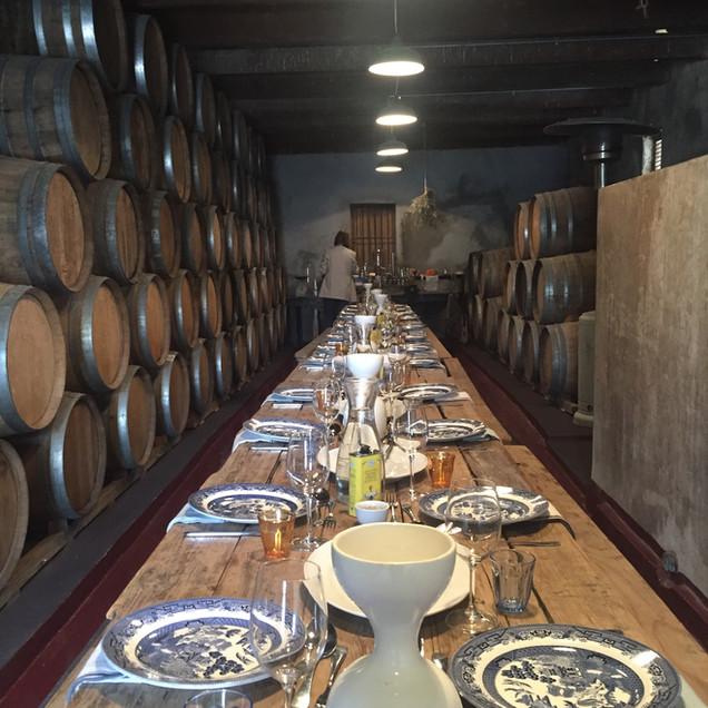 lunch in the caperitif cellar
