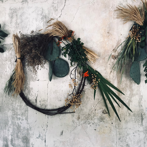 farm foraged decor