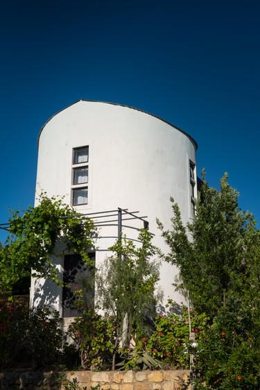 silo outside building