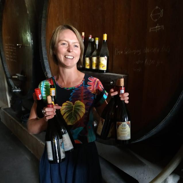 wine tasting with hanneke