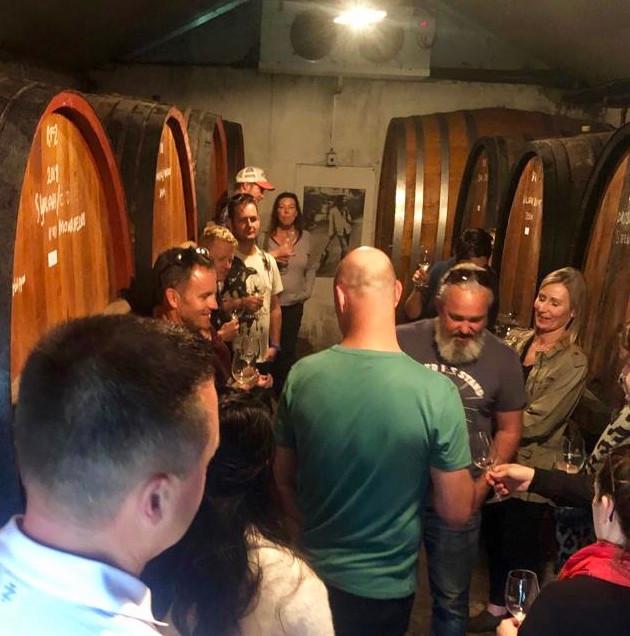 barrel cellar wine tasting