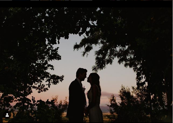 couple shoot at sunset