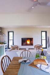 cottage inside fireplace