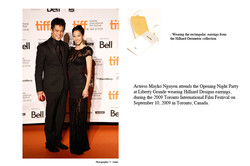 Actress Nguyen on the red carpet media
