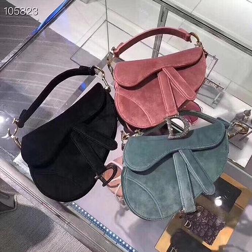 [Christian Dior ]#크리스찬디올 벨벳 Saddle백 스몰 C08181150
