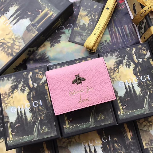 [GUCCI]# 구찌 460185 애니멜리에 벌 레터링 카드 지갑 C08084560