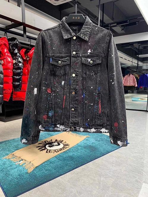 [AMIRI] #아미리 19F/W 신상 복고 페인팅 데님 자켓 A14096700