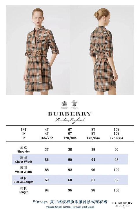 [Burberry ]#버버리 19F/W Vintage 체크 원피스 A01119102