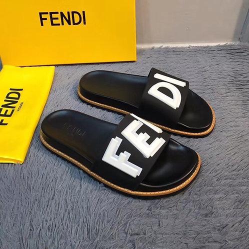 [FENDI ]#펜디 19SS 블랙 TPU fussbetts 슬라이더 슬리퍼 B13077360