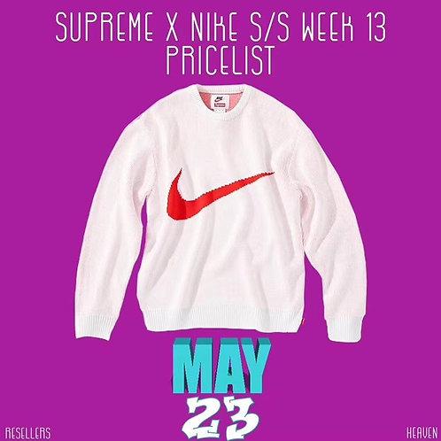[NIKE ]#나이키 & Supreme 콜라보 니트 스웨터 A01103660
