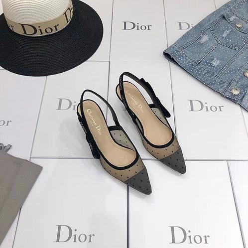 [Christian Dior ]#크리스찬 디올 벨벳 미니 도트 자수장식 J'ADIOR 발레리나 / 펌프스 B15092540