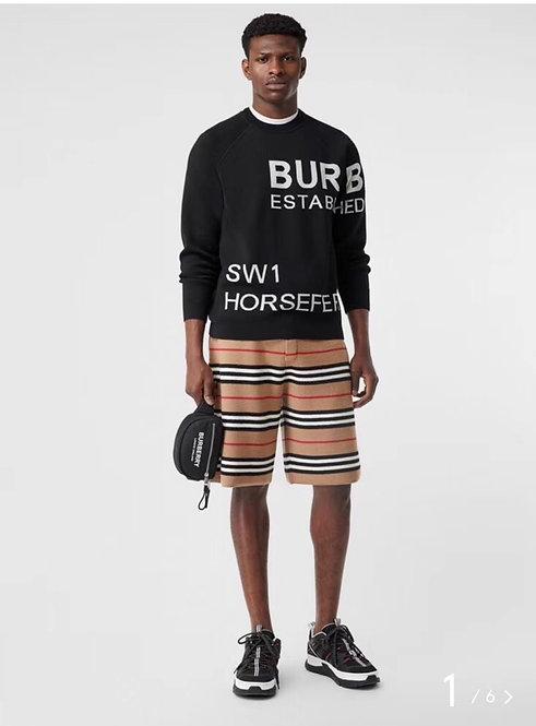 [Burberry ]#버버리 19F/W 자카드 텍스트 메리노 울 블렌드 스웨터 A01107760