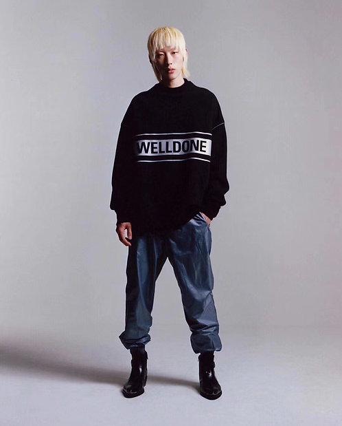 [WELLDONE]#웰던19F/W 3M 반사광대 로고 맨투맨 티셔츠 A01086520