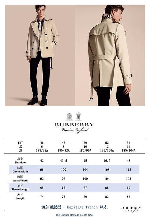 [Burberry ]#버버리 남성 쇼트 첼시 핏 트렌치 코트 A01211194