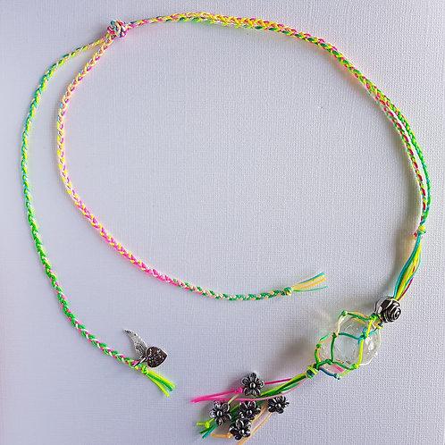 Quartz Macrame Necklace