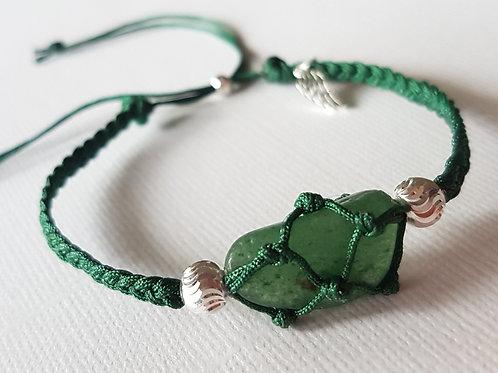 Green Aventurine Macrame Bracelet