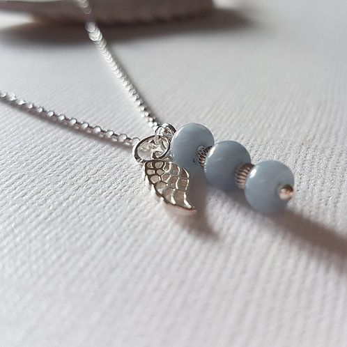 Sterling Silver Angelite Necklace